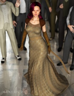 Evening Gown for Genesis 2 Female(s)