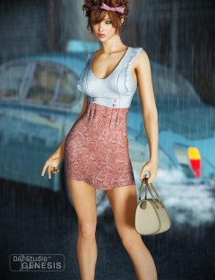 Cute Mini-Dress and Shoes