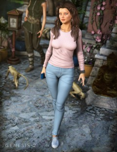 Casual Jeans and T-Shirt for Genesis and Genesis 2 Female(s)
