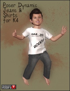 Poser Dynamic Jeans and Shirt for K4