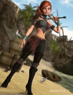 Fair Corsair Outfit for Genesis 2 Female(s)