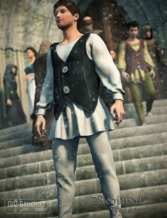 Medieval Male Peasant Clothing for Genesis