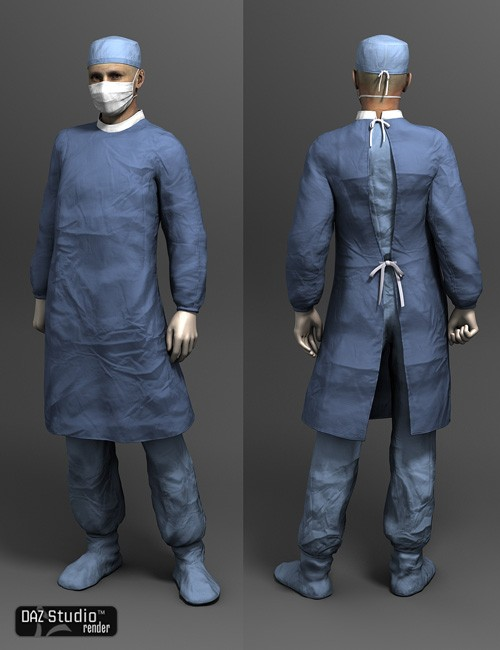 Surgical Gowns for Genesis | Uniforms Costumes for Daz Studio