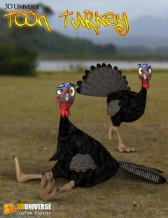 3D Universe Toon Turkey