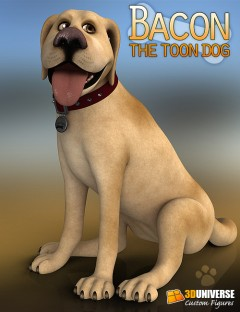 3D Universe's Bacon the Toon Dog