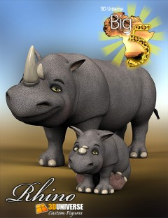 Toon Big 5 Rhino