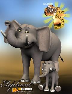 Toon Big 5 Elephant