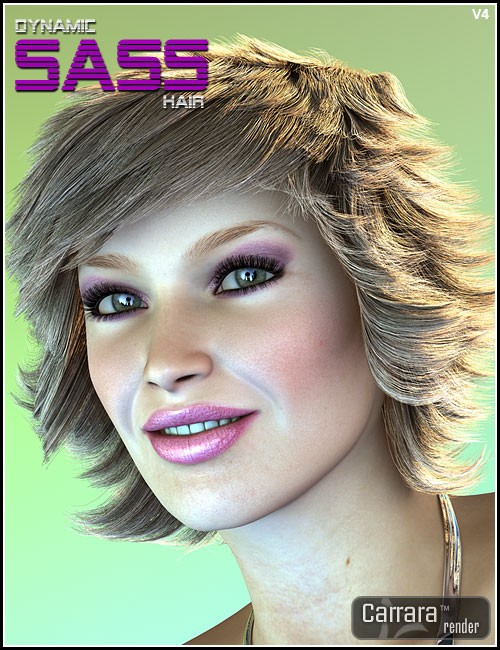 Dynamic Sass Hair for V4