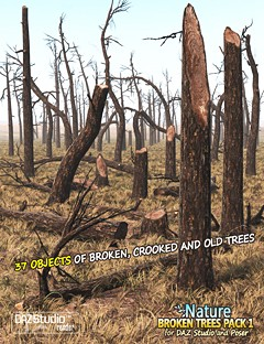 Nature- Broken Trees Pack 1
