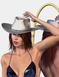 Western Hat with Hair