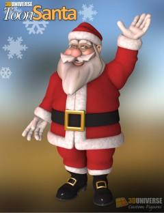 3D Universe Toon Santa