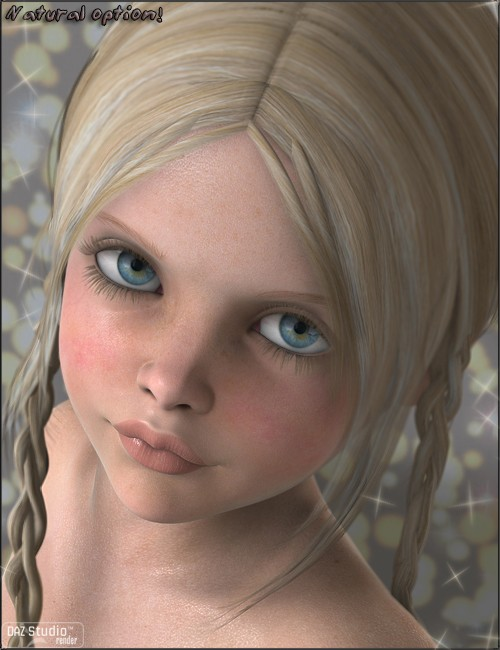 Eliza For K4 Children For Daz Studio And Poser - 500x650 - jpeg.