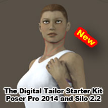 The Digital Tailor Starter Kit Poser Pro 2014 and Silo