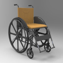 Wheelchair (for Poser and Vue)