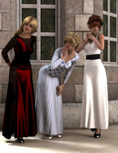 Possibilities 2PC Dress for Genesis 2 Female and Victoria 6