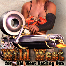 Wild West for Old West Gatling Gun