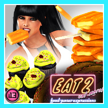 i13 EAT 2 Poses Expressions and FOOD