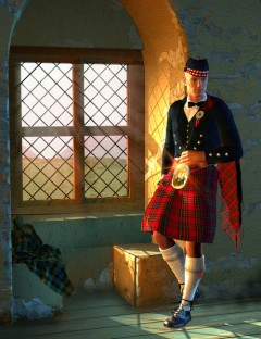 Scottish Kilts- Prince Charlie Outfit