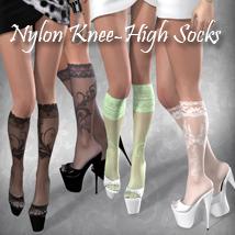 Luxury Style _ Nylon Knee-High Socks