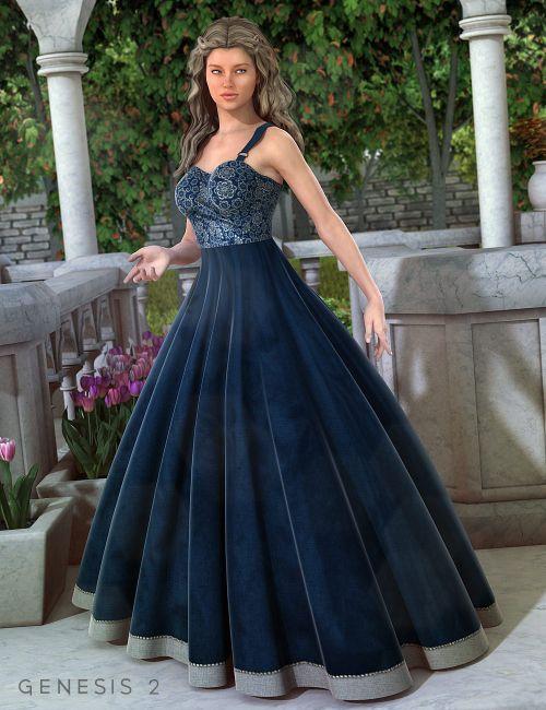 Garden party dress clubwear dresses for daz studio and poser for Garden party dresses