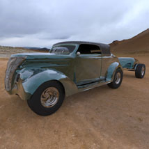 Ford `37 With Trailer (for 3D Studio Max)