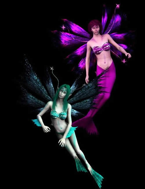 Sea Sirens for Faery Wings Deluxe | Fairies Elves for Daz