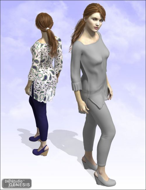 Taylor Dress | Eveyday Clothing for Daz Studio and Poser
