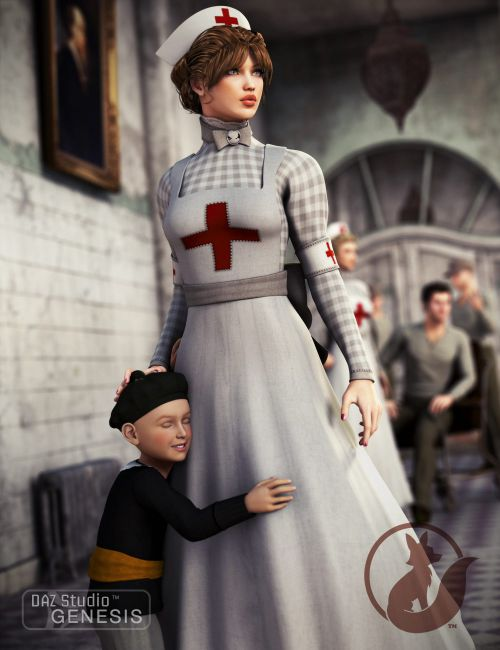 cde81c10d84 Victorian Nurse | Uniforms Costumes for Daz Studio and Poser