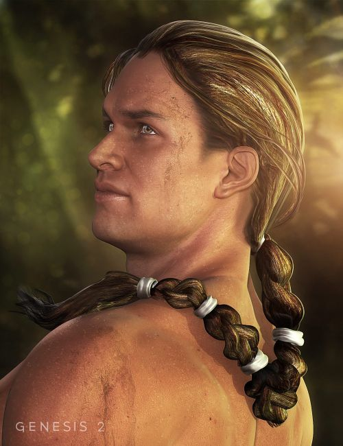 Ancient Combat Hair for Genesis 2 Male(s)