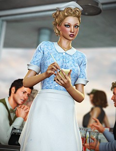 Diner Waitress for Genesis Female