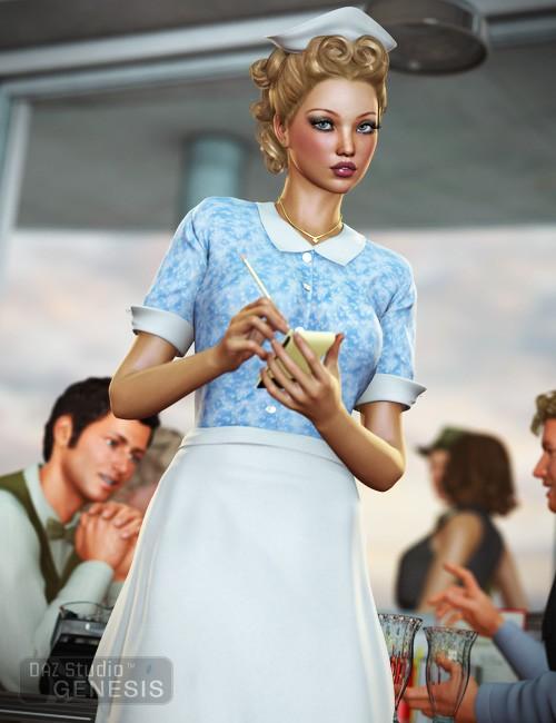 Diner Waitress for Genesis Female