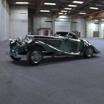 Mercedes Benz 540K (for 3D Studio Max)