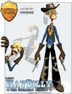 3D Universe's HayBilly - The Cowardly Sheriff