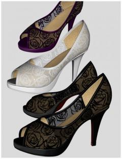 Cute3D Rose Heels