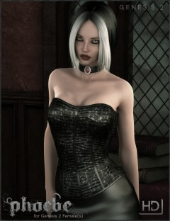 Phoebe HD Bundle - Gothic Character, Outfit and Hair