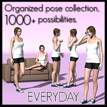 Everyday poses collection V4