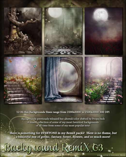 Background RemiX 03 | 2D and Merchant Resources for Poser and Daz Studio