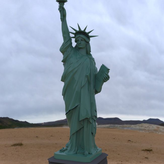 Statue of Liberty (for Wavefront OBJ and Vue)