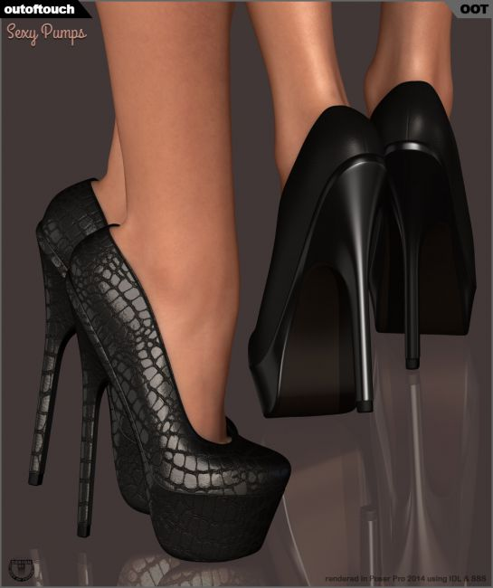 Sexy Pumps for Dawn | Footwear for Poser and Daz Studio