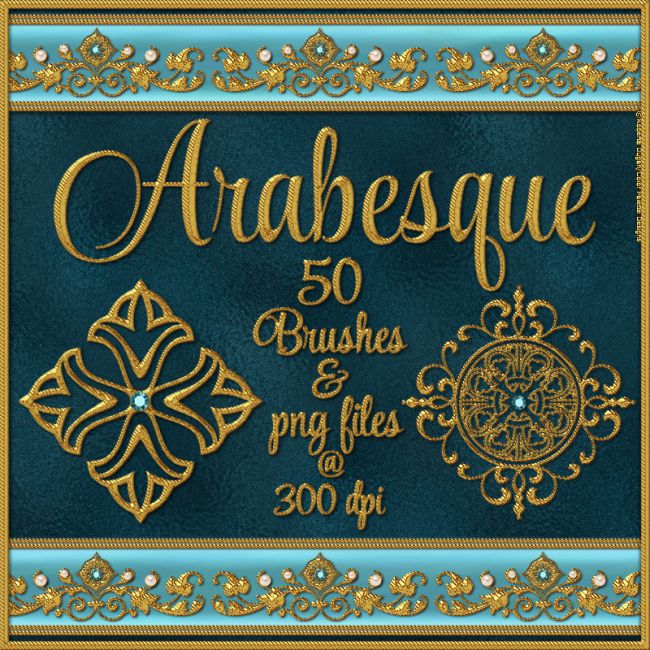 ARABESQUE Brushes and png Files Pack
