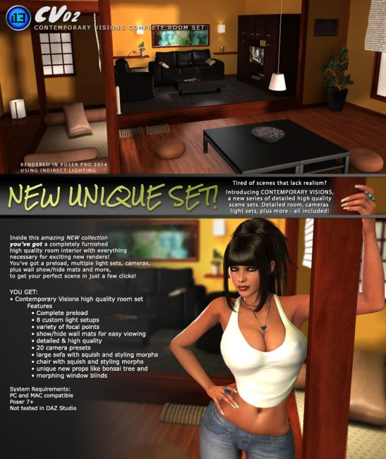 i13 CV02 | Props Scenes and Architecture for Poser