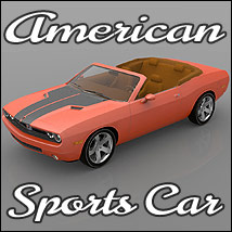 American Sports Car (3ds,Poser, Vue & Obj)