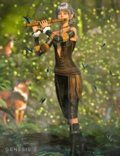 Elven Grove Outfit for Genesis 2 Female(s)
