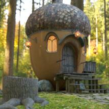 AJ Acorn Fairy House