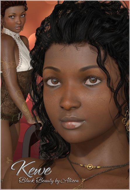 A3D Kewe Black Beauty for V4
