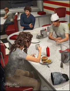 Late Night Diner Poses for Genesis 2 Female and Male