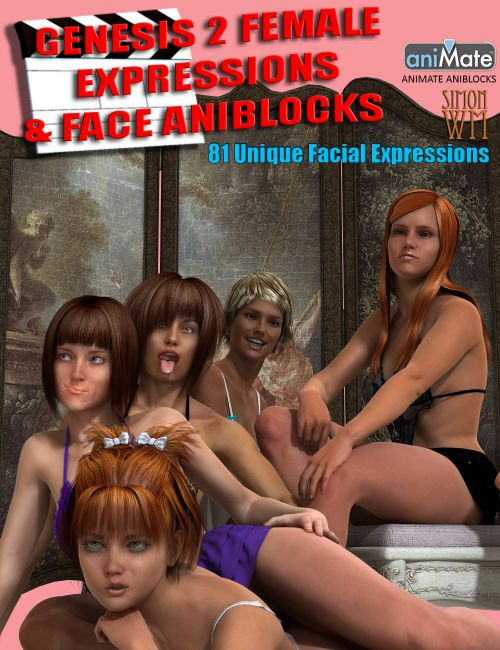 Genesis 2 Female(s) Expressions & Face aniBlocks