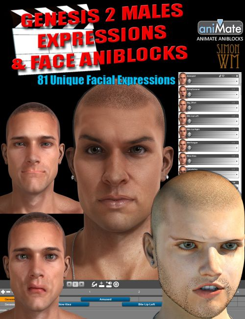 Genesis 2 Male(s) Expressions & Face aniBlocks