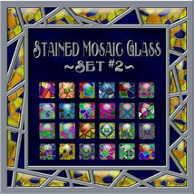 Stained Mosaic Glass-Set #2 Layer Styles