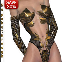 "B#1 1 Click ""Gilded Super Skinz Bodygloves"